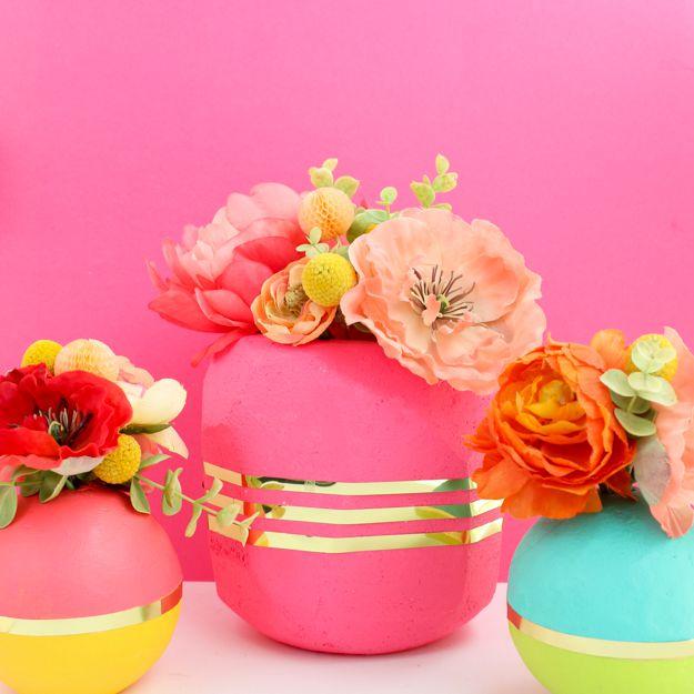 DIY Colorful Vase