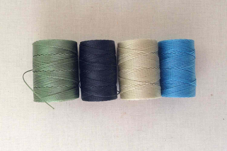 Braided NYLON CORD Macrame Thread 0.5 0.7mm Shamballa Kumihimo Knotted Bracelets