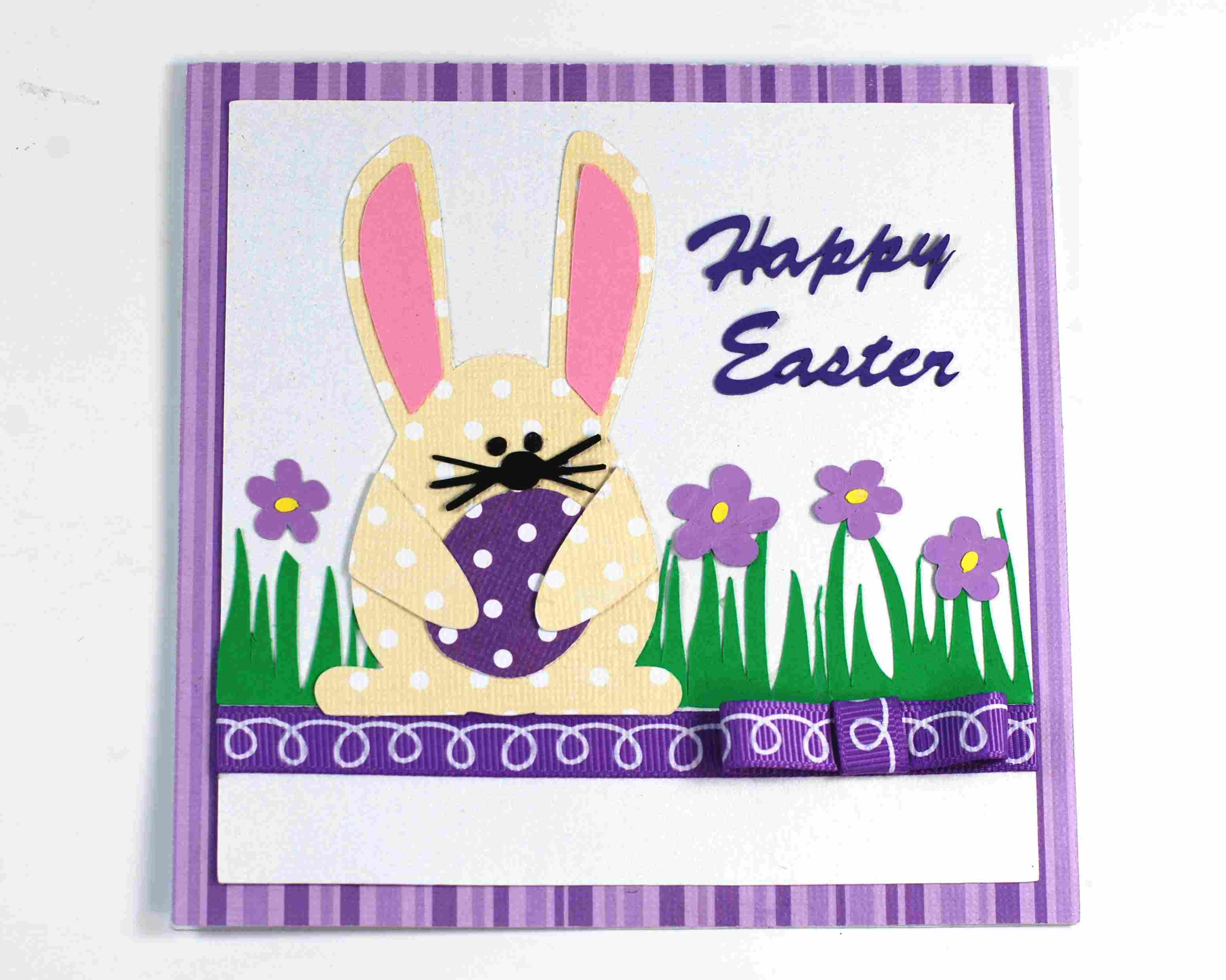 diy cute easter bunny card