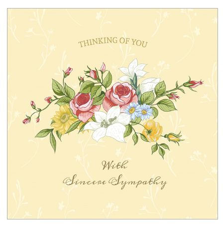 7 free printable condolence and sympathy cards a sympathy card with a bouquet of flowers on it greetings island m4hsunfo