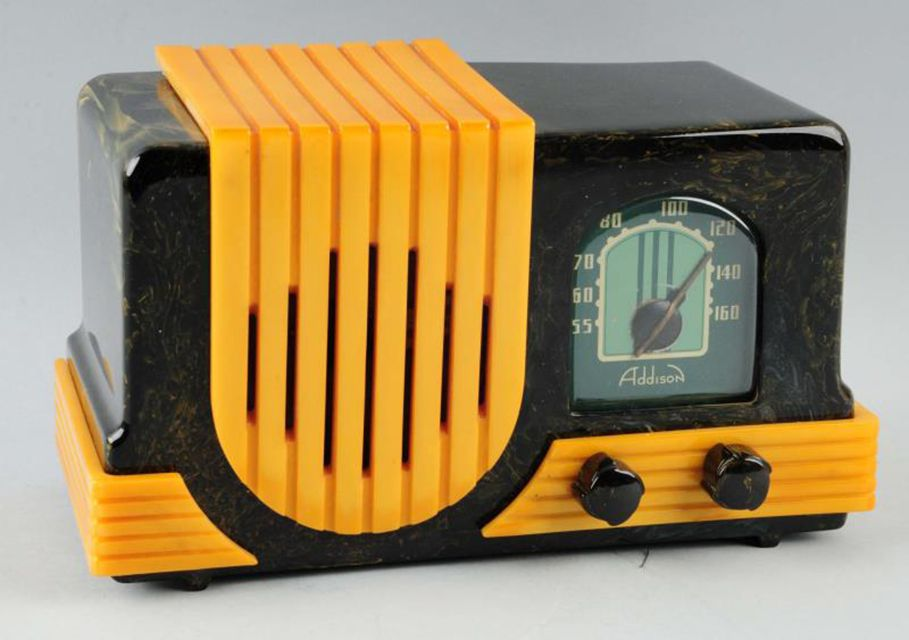 An Addison Bakelite radio made during the 1930s would be considered a collectible rather than an antique.