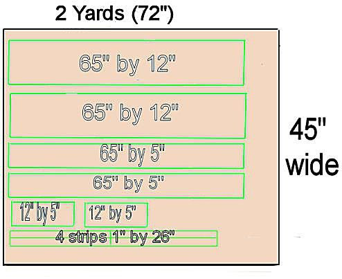 An example of how to calculate how much fabric you will need to sew a cushion cover