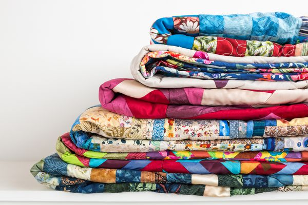Beautiful colorful quilts