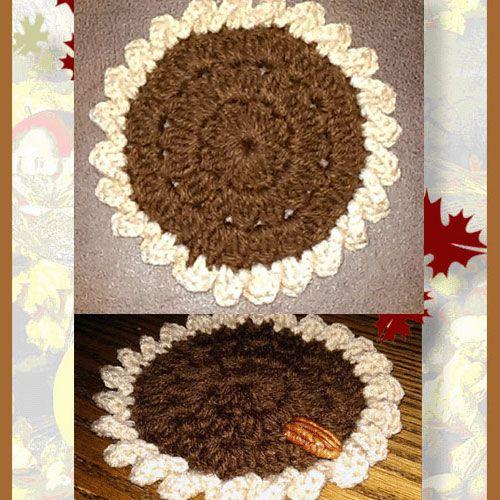 Pecan Pie Crochet Coasters