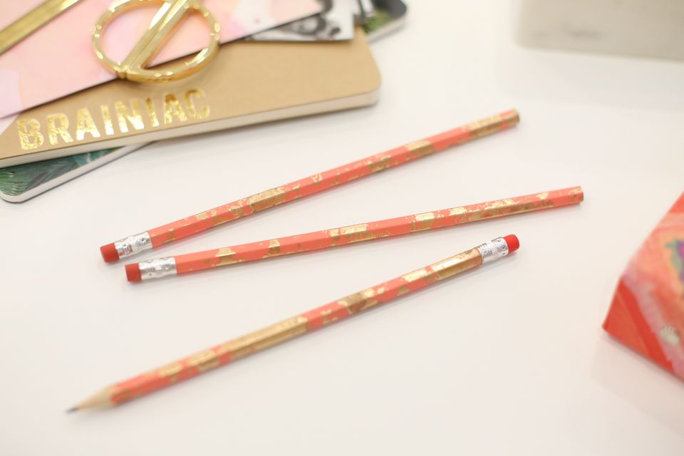 Gold-flecked pencils