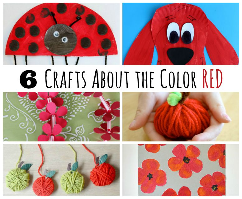 6 Kids Crafts With The Color Red