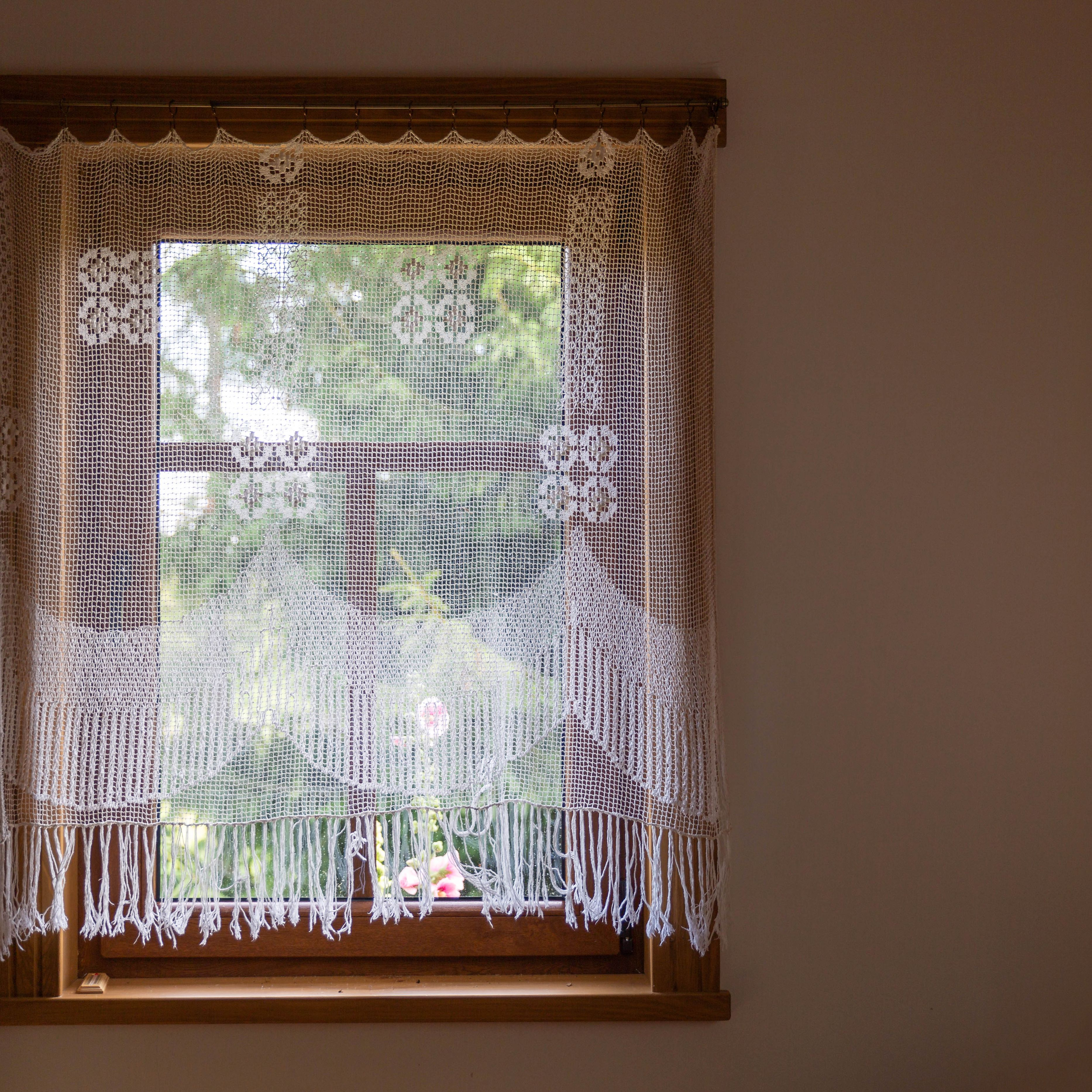 3 Crochet Curtain No
