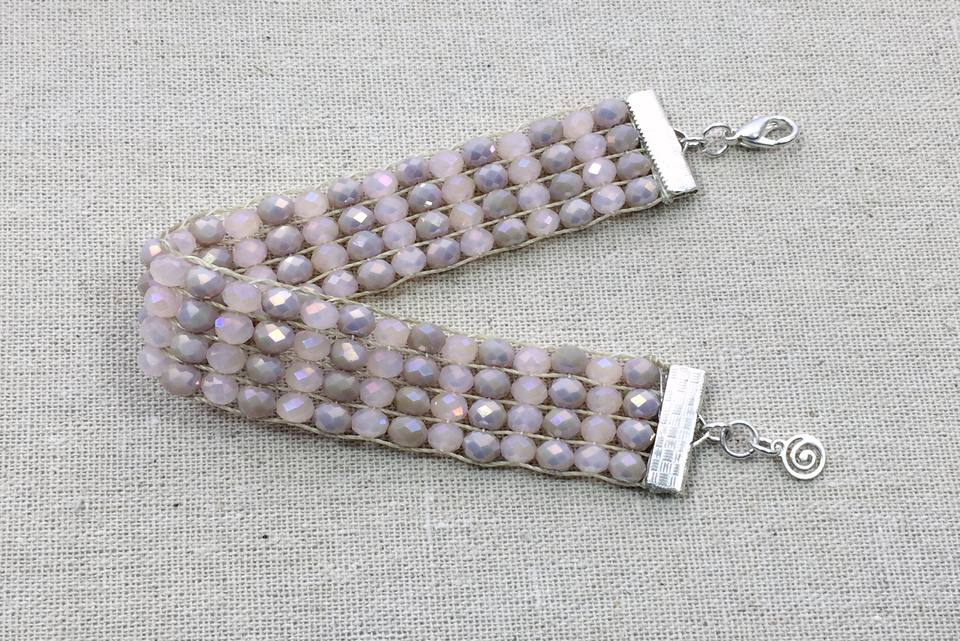 Crystal Bead Loom Bracelet