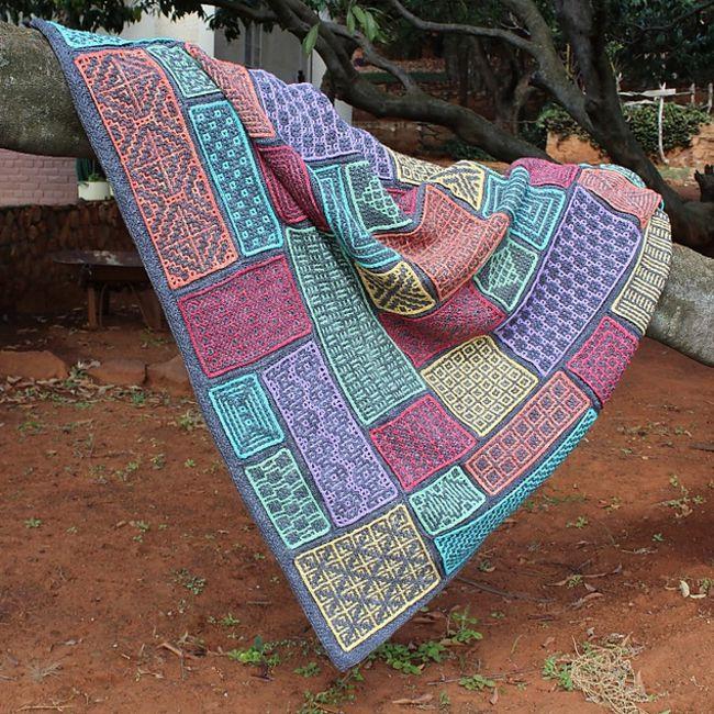 Wacky Weave Blanket Free Crochet Pattern