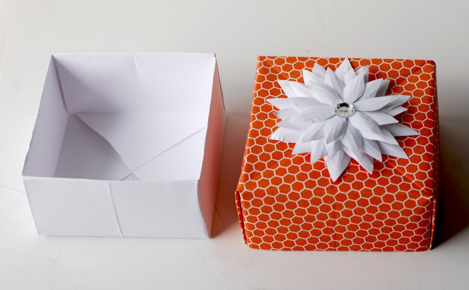 how to make origami gift box with cover