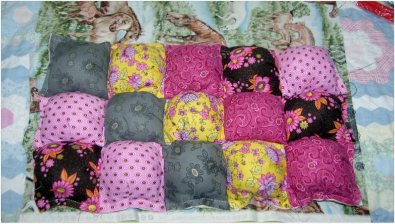 How To Make Puff Quilts Also Called Biscuit Quilts Beauteous Puff Quilt Patterns