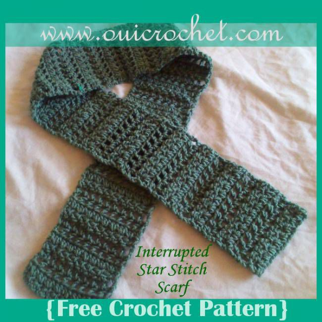 Interrupted Star Stitch Scarf Free Crochet Pattern