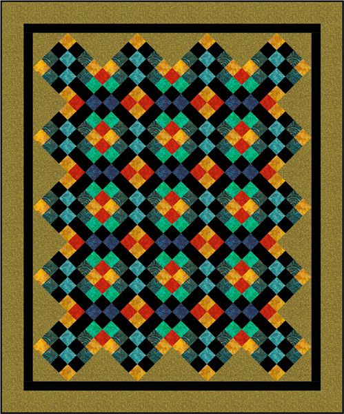 Mosaic Four Patch Quilt Pattern