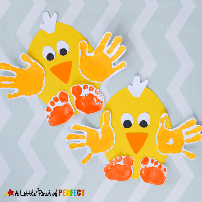 handprint chick kids craft