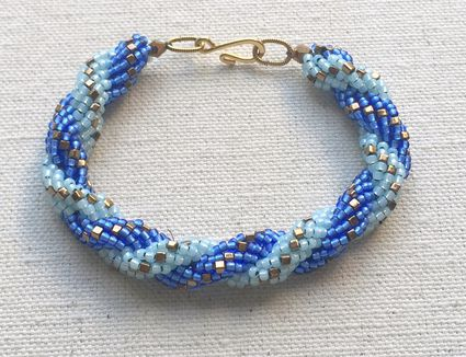 Double spiral rope bracelet tutorial