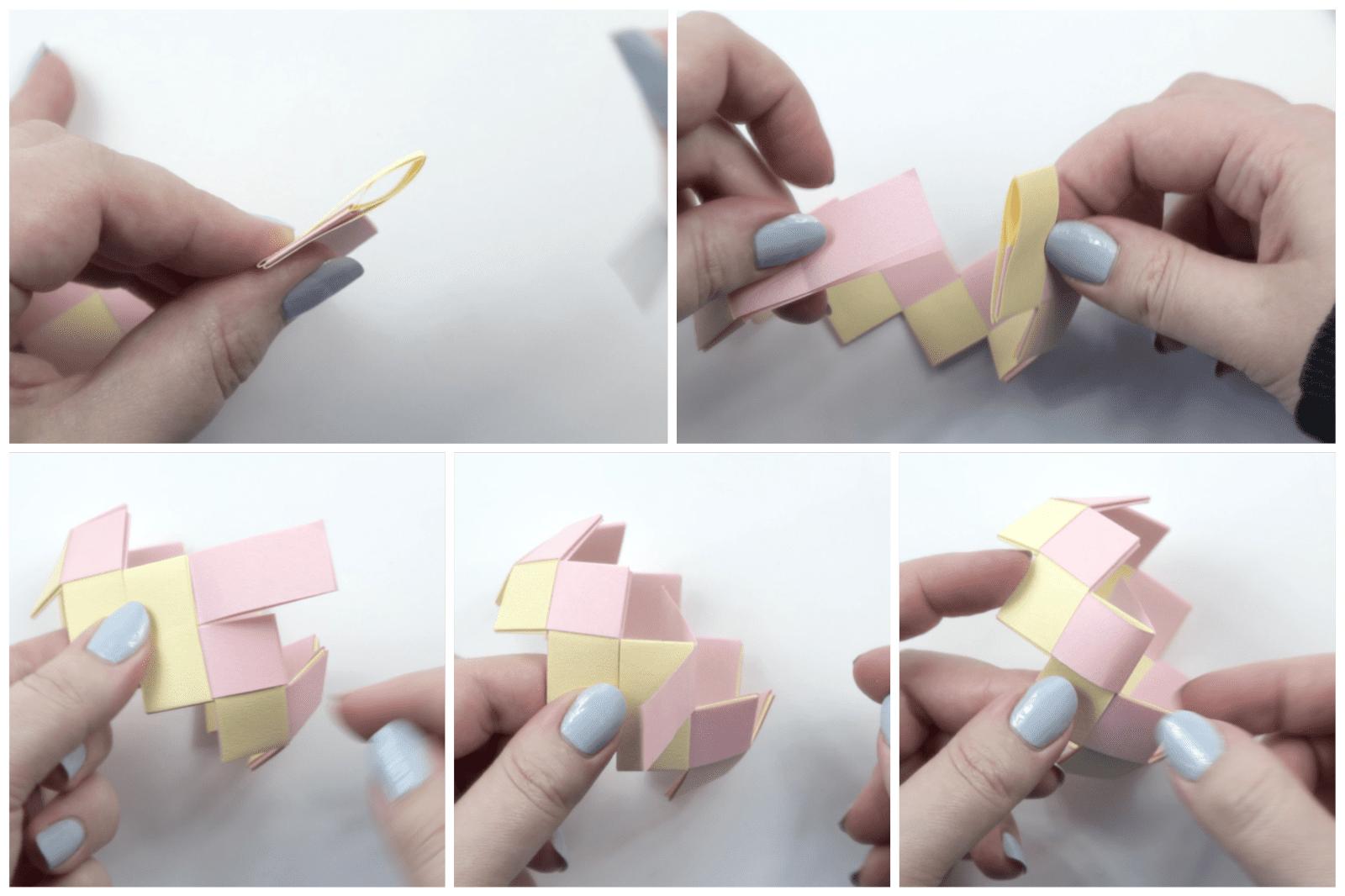 origami bracelet tutorial 06