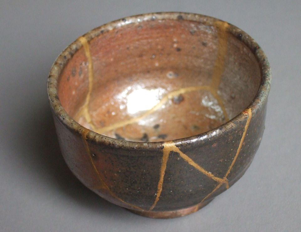 Kintsugi Pottery Bowl
