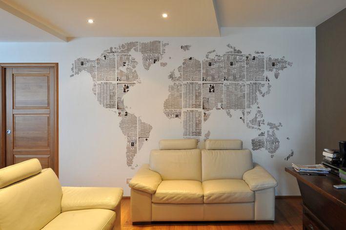 newspaper wall map