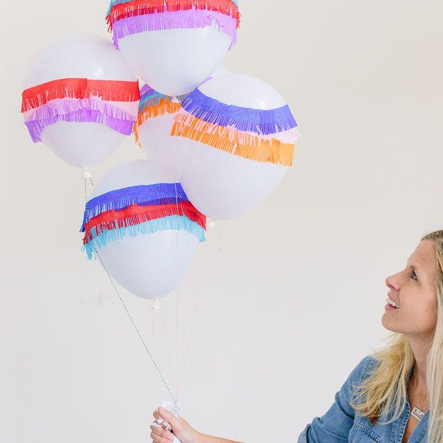 DIY Pinata Fringe Balloons