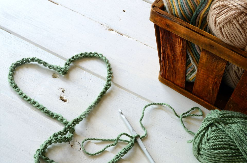 Green Crochet Heart Symbol