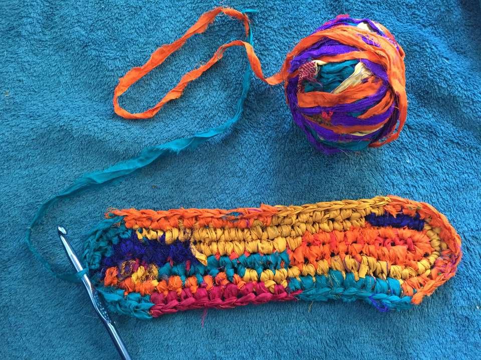 Oval Rag Rug Free Crochet Pattern