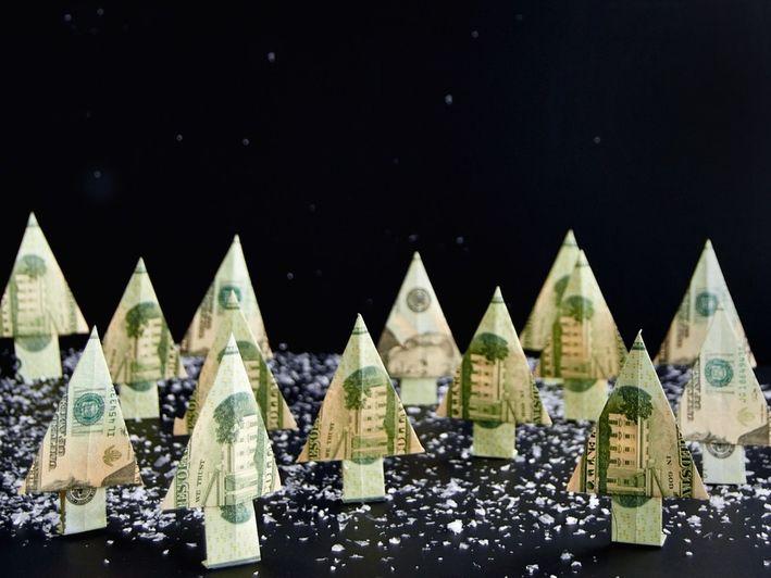 Origami trees.