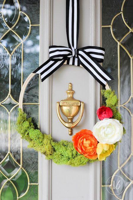 Door Decoration with Ribbon