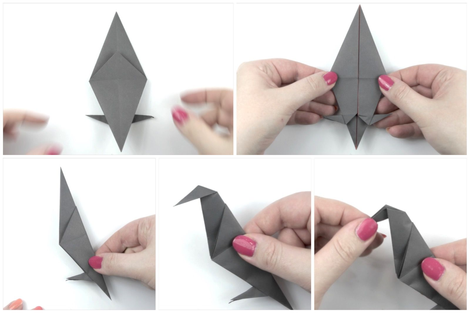 Last folds for the origami crow