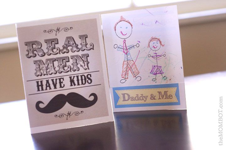 Two Father's Day Cards on a Table