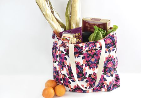 Free Sewing Pattern For A Durable Reusable Grocery Bag