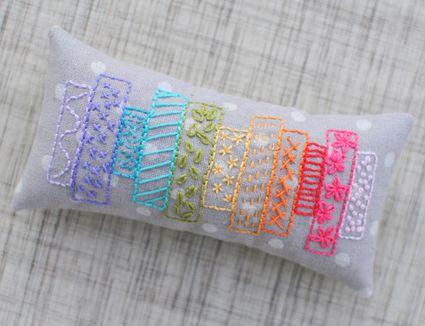 Washi tape pincushion