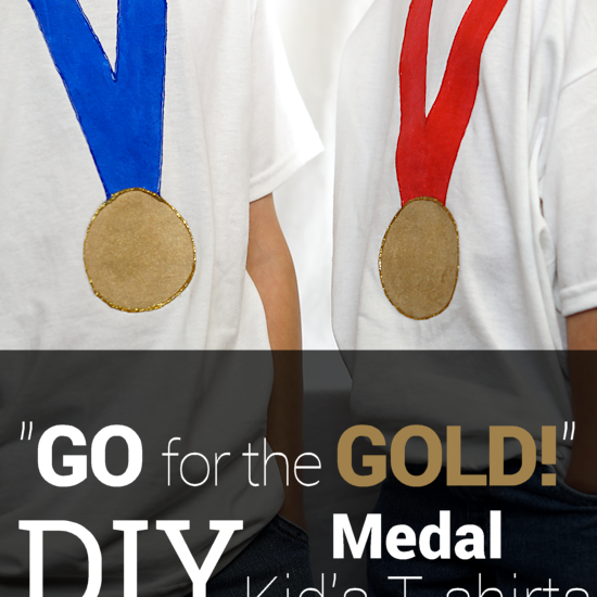 """DIY: """"Go For The Gold!"""" Medal Kids T-shirts"""