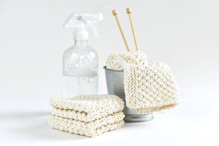 Free Moss Stitch Dishcloth Knitting Pattern