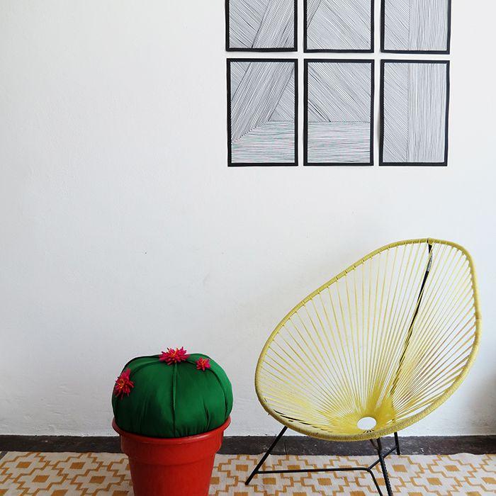 DIY Cactus Stool