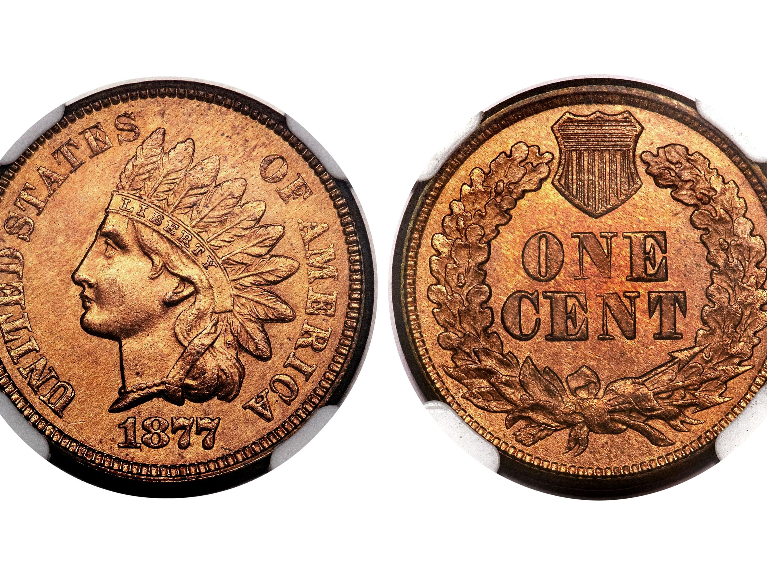How much is a 1863 indian head penny worth