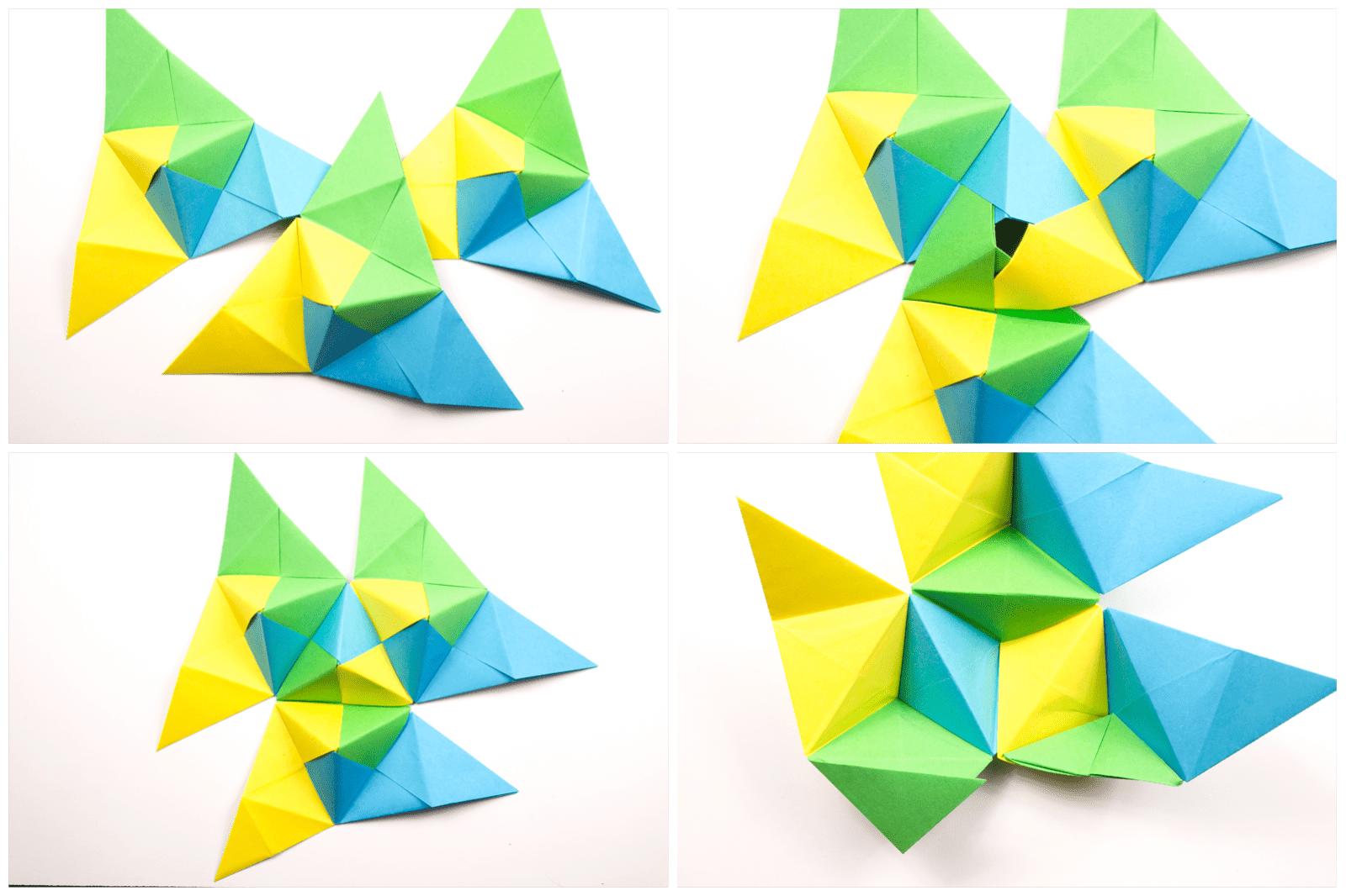 Origami Sonobe combination step 2