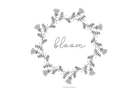 Free Vintage Inspired Bloom Embroidery Pattern