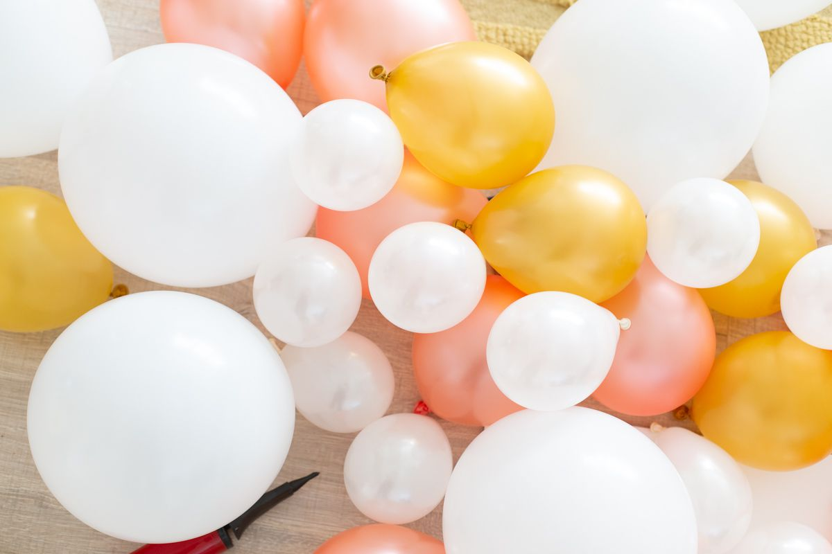 Inflated balloons for a balloon arch