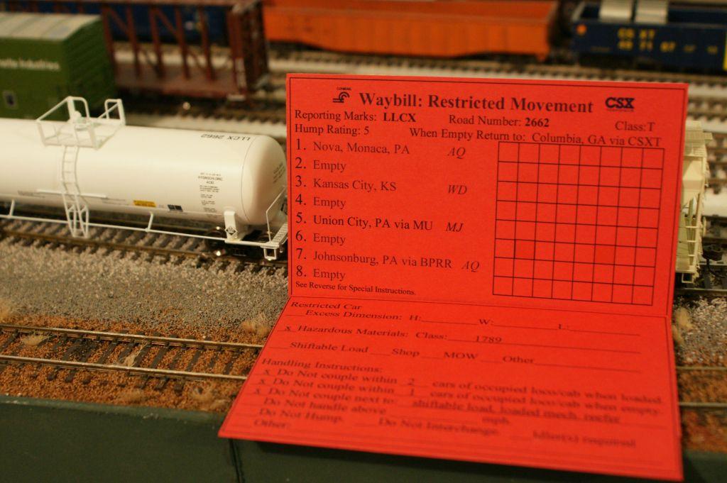 Restricted waybill