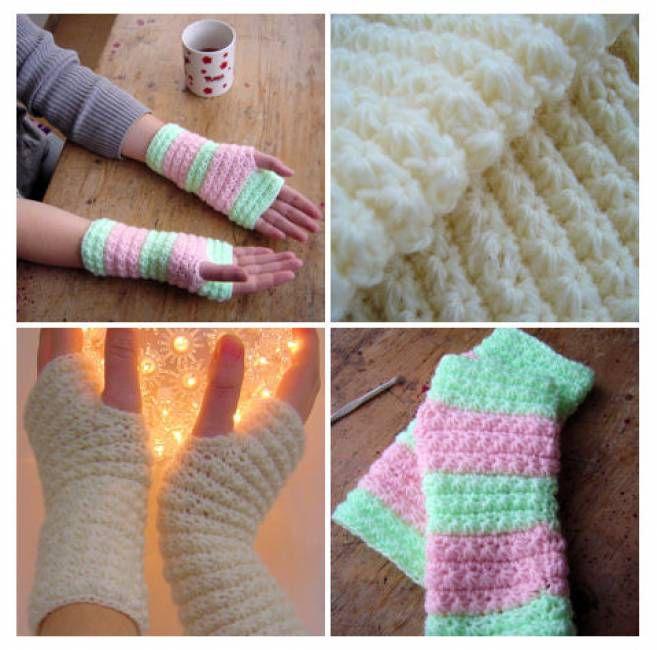 Star Stitch Hand Warmers Free Crochet Pattern