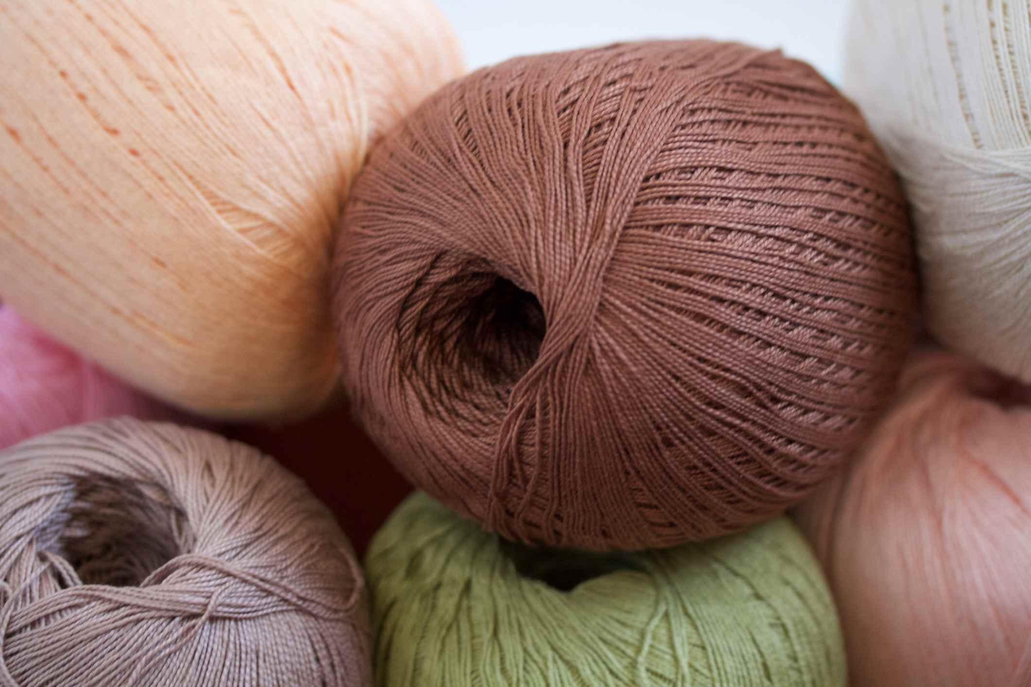 Spools of crochet thread
