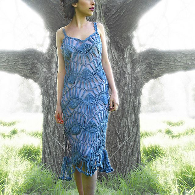 Hairpin Lace Crochet Dress Pattern