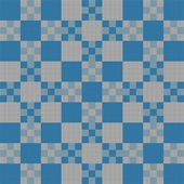Boy's Baby Blanket Idea Featuring Nested Checkerboard Pattern - Change Colors for Unisex Design