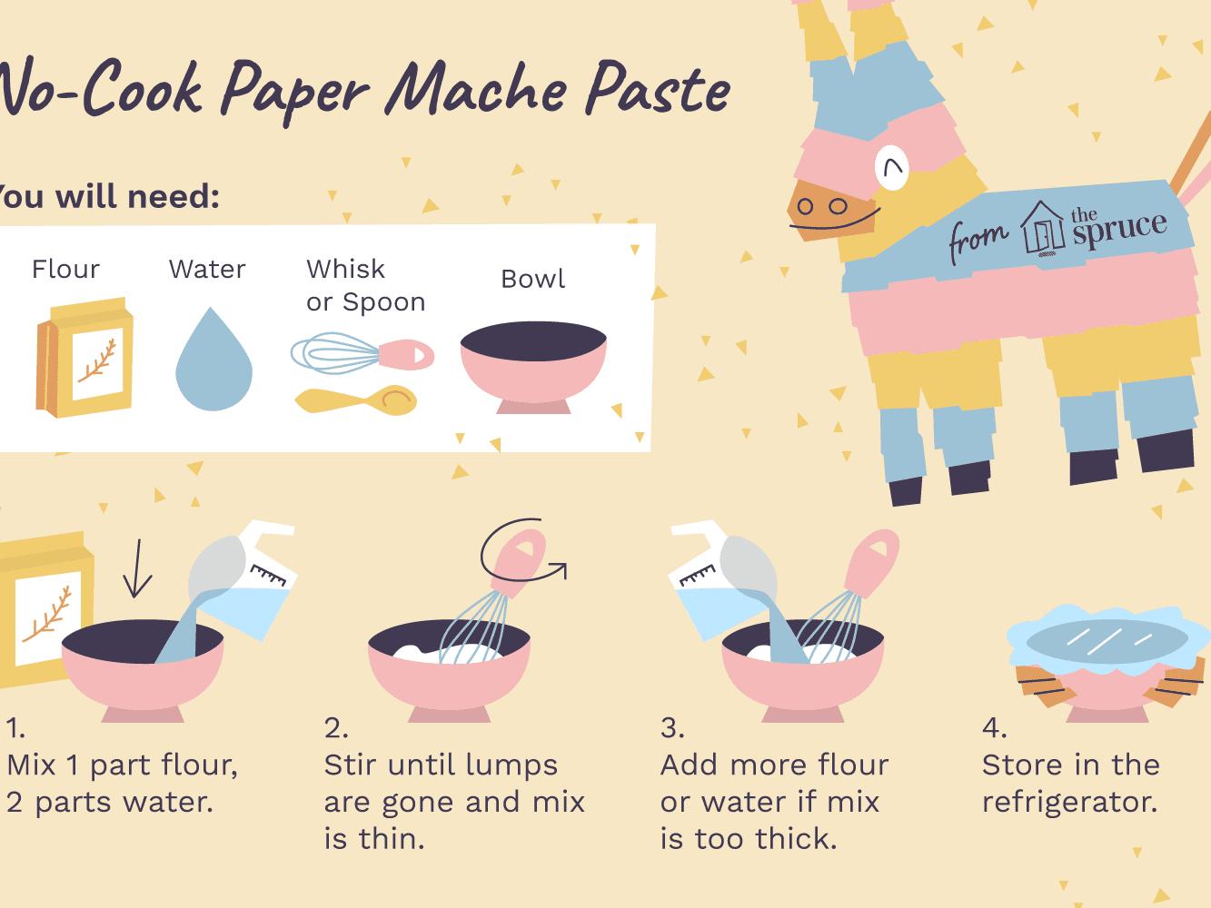 A Recipe For No Cook Paper Mache Paste