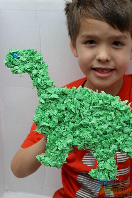 Tissue Paper Dinosaur Craft