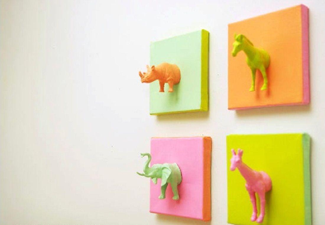 Plastic Animal Canvas