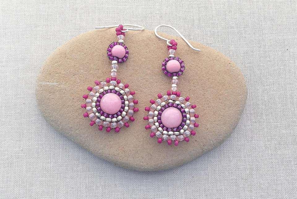 Brick Stitch Component Earrings