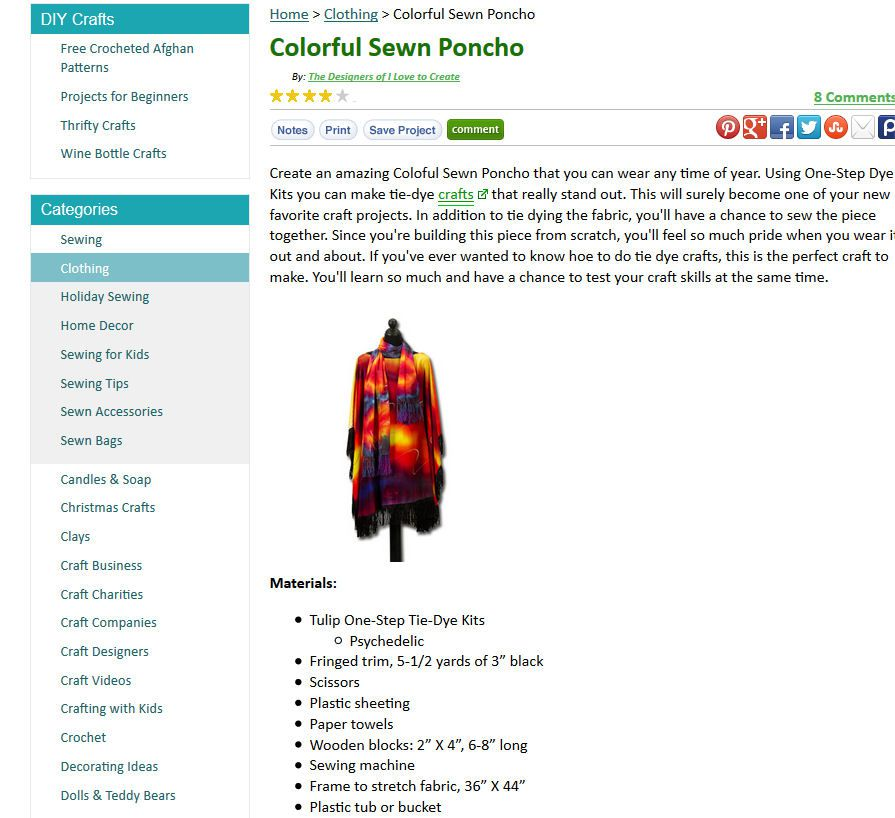 Colorful Sewn Poncho