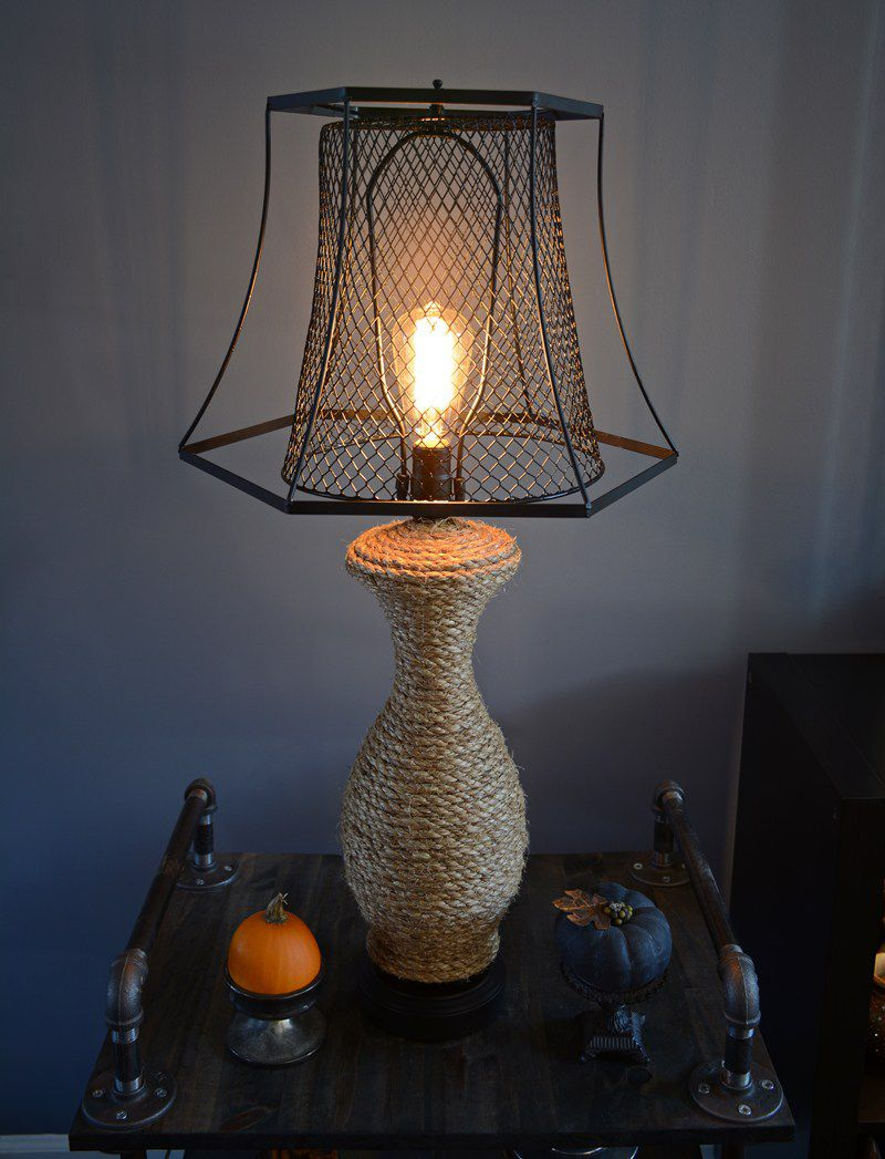 industrial diy lamp project