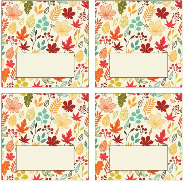 colorful autumn leaf place cards